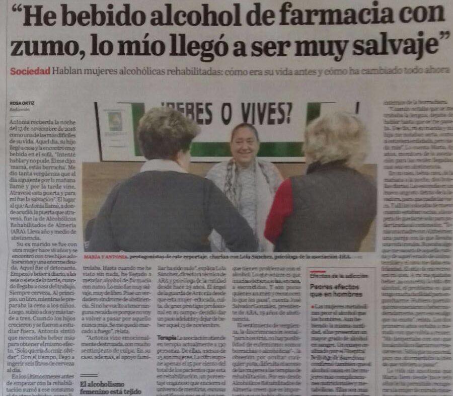 En La Voz de Almería de hoy domingo...