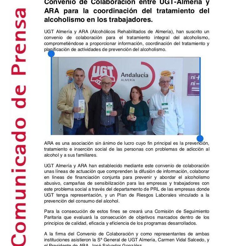 Convenio de Colaboración con UGT